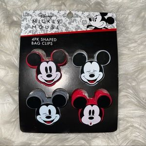 ♥️ 4 Disney Mickey Shaped Kitchen Chip Bag Clips